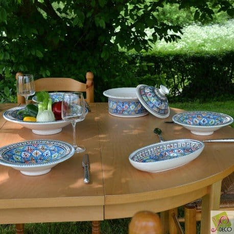 Lot de 6 assiettes Tebsi Bakir Royal – D 23 cm
