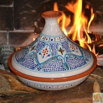Tajine Marocain turquoise – D 31 cm traditionnel