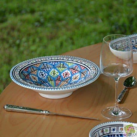 Lot de 6 assiettes Tebsi Bakir Royal – D 23 cm