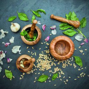 Mortier & pilon en olivier ciré