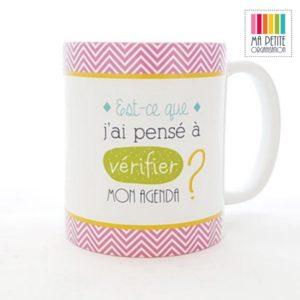 MPO mug ma petite organisation cadeau noel femme est ce que j ai pense a verifier mon agenda@x