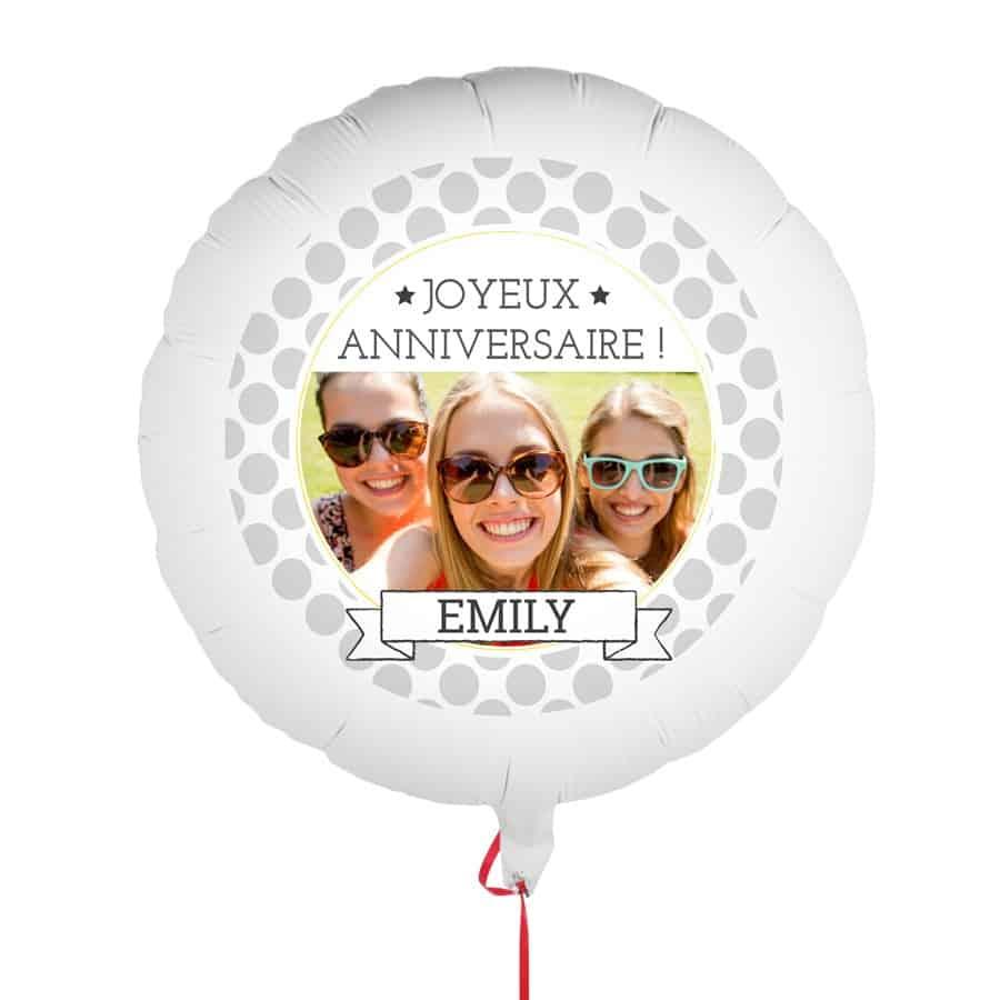 Ballon personnalisé - Anniversaire