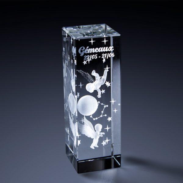 Signes du Zodiaque en verre 3D