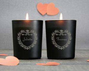 bougies personnalisées idée cadeau