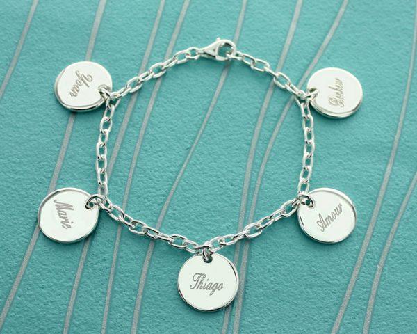 Bracelet Médailles en Argent