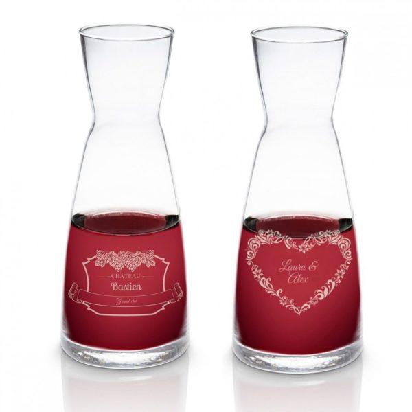 Carafe à vin avec gravure personnalisée