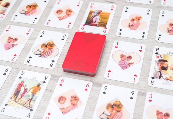 cadeau personnalisée Jeu de cartes personnalisé classique