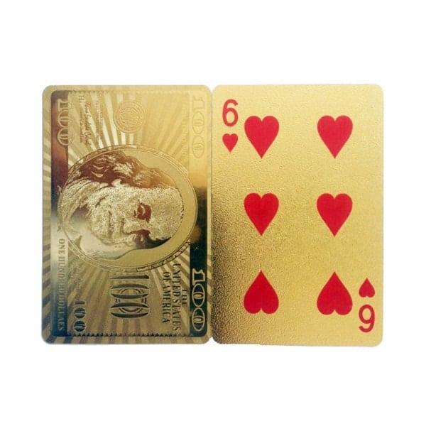 Cartes à Jouer Dorées Dollars