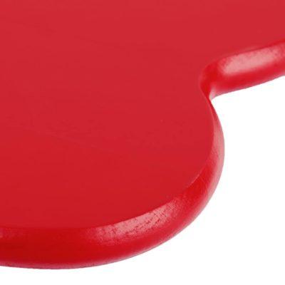 Cœur en bois avec texte – Rouge
