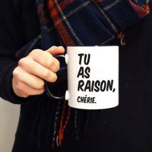 TASSE PERSONNALISABLE – TU AS RAISON