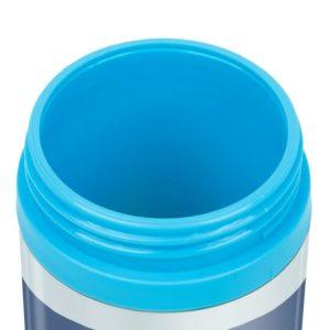 gobelet avec couvercle bleu