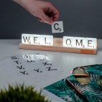 Lampe Scrabble de Table personnalisée