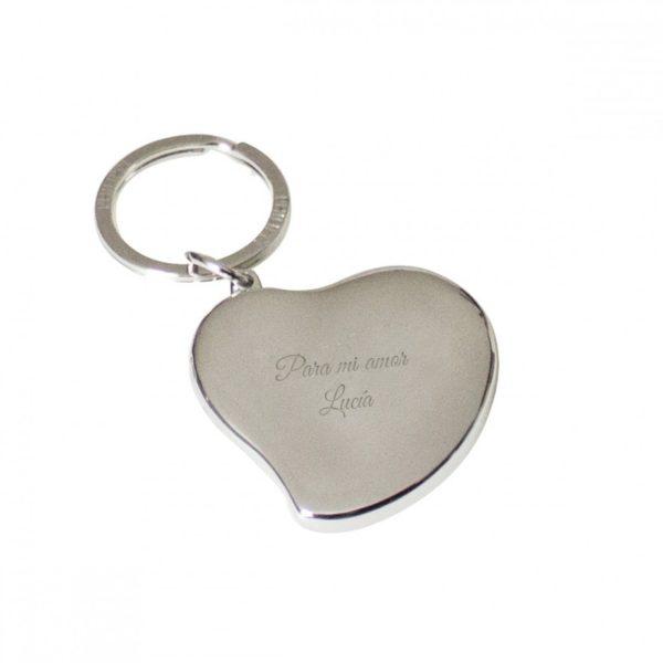 Porte-clés médaillon «Cœur» avec gravure personnalisée