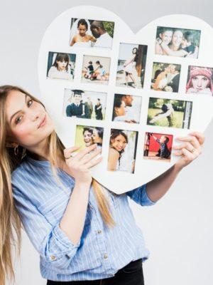 marco de fotos con forma de enorme corazon regalos es  cc