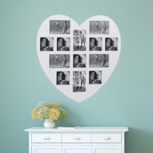 Cadre photo avec une énorme forme de coeur