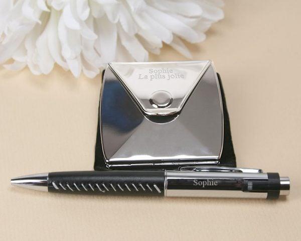 miroir enveloppe et stylo usb  zoom
