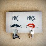 PORTE-CLÉS MR. & MRS