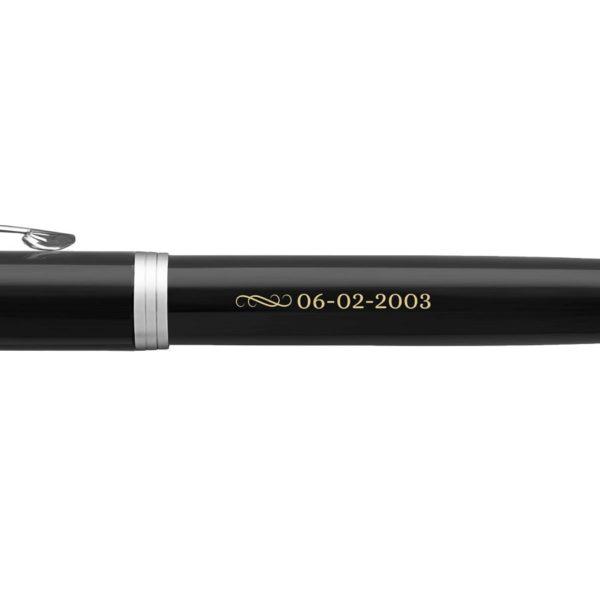 stylo a plume parker im personnalise droitier noir