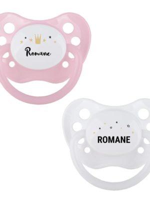 Tétines personnalisées idée cadeau bébé