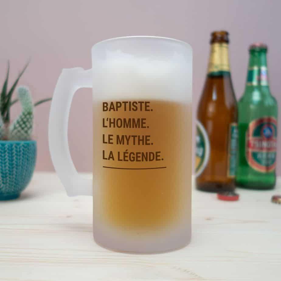 CHOPE DE BIÈRE MODERNE & PERSONNALISABLE idée cadeau