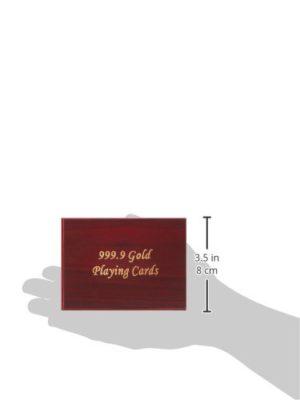 Cartes à jouer plaquées Or