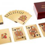 jeu de carte plaqué Or