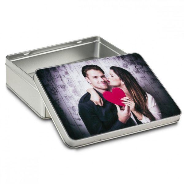 Boite cadeau carrée avec photo : impression éternelle