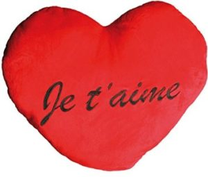 coussin coeur geant je taime