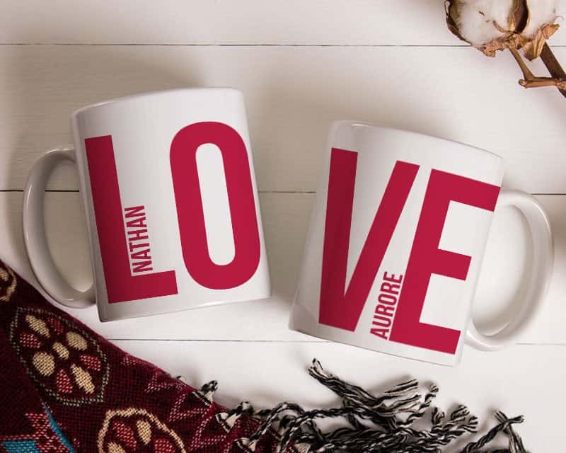 Lot de 2 Mugs Love