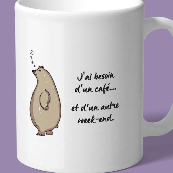 tasse pleine d'humour pour les matins difficile