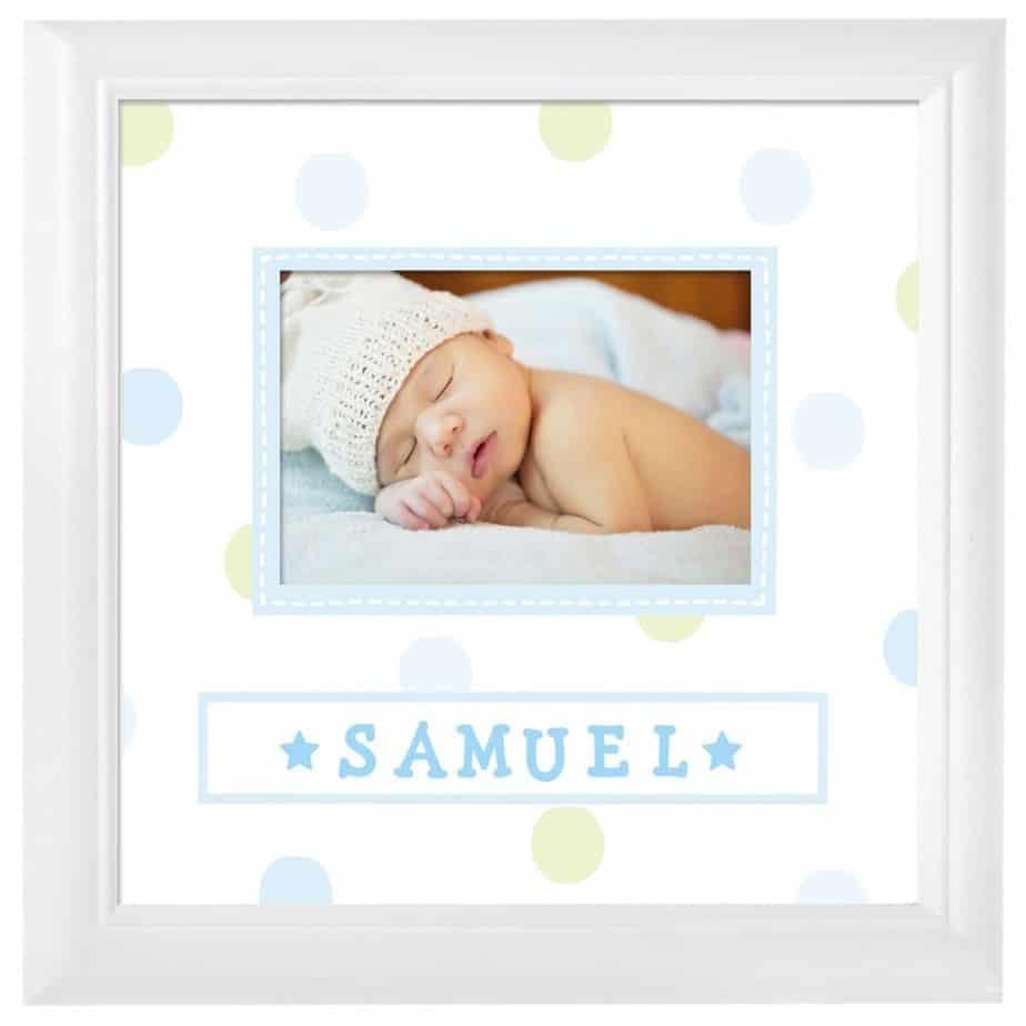 Cadre photo personnalisé pour bébé avec nom