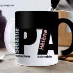 Mug «PAPA» personnalisé