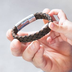 Bracelet en cuir à personnaliser pour homme