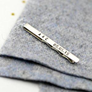 Pince à cravate personnalisée