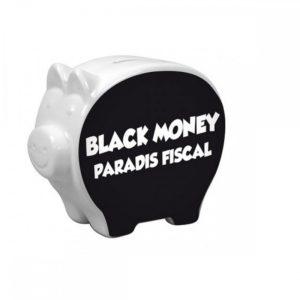 Tirelire cochon BLACK MONEY