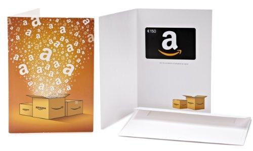 Carte cadeau Amazon.fr – €150 – Dans une carte de vœux Amazon