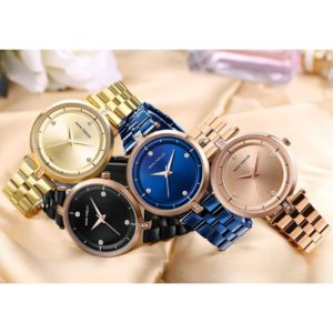 Women's Crystal Dial Stainless Steel Bracelet Watch