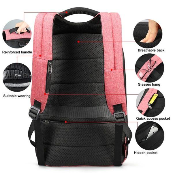 Women's Anti Theft Laptop Backpack with TSA Lock
