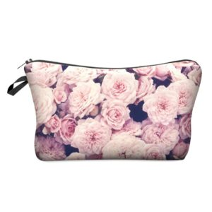 Women's 3D Floral Printed Cosmetic Bag