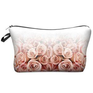 Sac cosmétique imprimé floral 3D