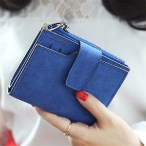 Portefeuille compact Casual pour femmes