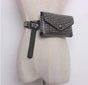 Sac ceinture Glam Rock Rivet pour femme