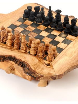 Table d'échecs en bois d'olivier, unique olive bois naturel,