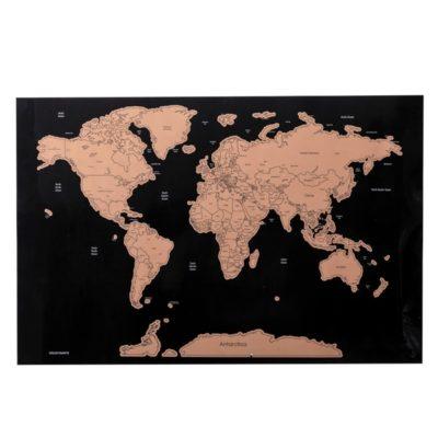 Carte du Monde à gratter Version Deluxe