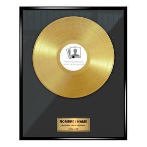 Disque d'or personnalisé : PRIX N ° 1. OR 18K – Pas cher