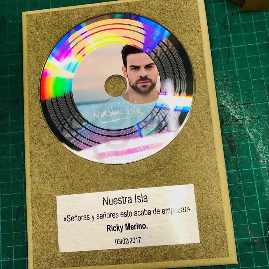 BABINYL – Disque d'or Platine personnalisé avec photo et text