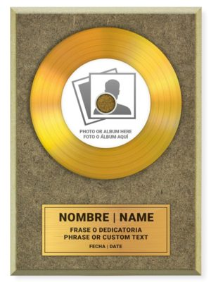 Disque d'or personnalisé BABINYL GOLD