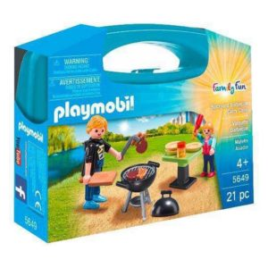 Playset Family Fun Backyard Barbacue Carry Case Playmobil 5649 (21 pcs)