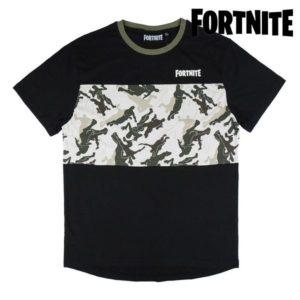 T shirt à manches courtes Enfant Fortnite Noir