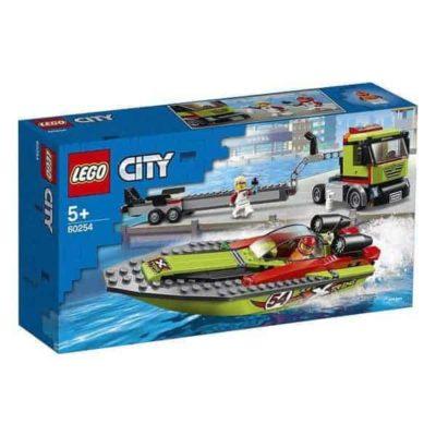 Playset City Race Boat Transporter Lego